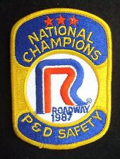 ROADWAY SEW ON PATCH NATIONAL CHAMPIONS P D SAFETY TRUCK 1987 ~ 3