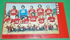 RARE CLIPPING FOOTBALL 1977 1978 FC ROUEN DIABLES ROUGES FCR ROBERT-DIOCHON