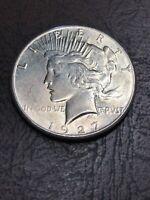 1927-S PEACE DOLLAR  NO RESERVE CHOICE COIN