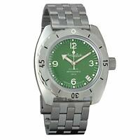 Vostok Amphibian 150348 / 2416 Classic Military Russian Diver Watch Green