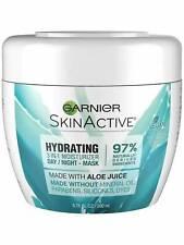 Garnier Skin Active Hydrating 3 in 1 Moisturizer Day Night Cream Mask Vegan Aloe