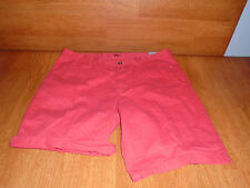 New Mens Size 28 28W Old Navy Orange Chino Shorts Above Knee Casual Cotton