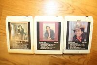 Lot 3 Charley Pride Country 8-tracks 8-track Tested working 80's 8 track Vintage