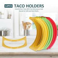 12PCS Taco Holder Stand Rack Plastic Pancake Tray Food Display Kitchen Tools