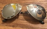 Ray Ban Sunglasses Aviator RB3025 Silver Lenses 58mm Mirrored Silver Frame