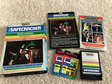 Intellivision Safecracker Imagic Complete Game Box Manual Overlays Tested CIB