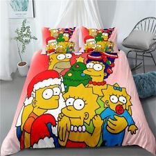 Single/Double/Queen/King Anime Quilt/Doona/Duvet Set The Simpsons Christmas Tree