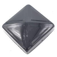 """100mm (4"""") METAL PYRAMID FENCE POST CAPS ANTHRACITE GREY DECORATIVE NEWEL STYLE"""