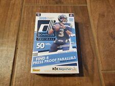 NEW - 2020 Donruss Panini NFL Football Hanger Box Football Cards - 50 Cards