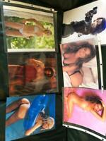 Lot of 6  8 x 10 Pin ups  Christina Aguilera  Karen Mcdougal Jenny McCarthy  Bro