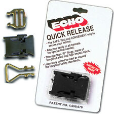 (2) Echo Motorcycle/Snowmobile Helmet Strap Quick Relase Buckle DOT & Snell Appr