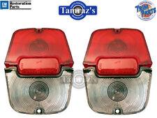 62-64 Chevy II Nova WAGON Tail Light Lamp & Back Up Lens L&R USA MADE