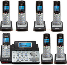 Vtech DS6151 DECT 6.0 2-Line Cordless Phone 6 DS6101 Telephone Bundle Expandable