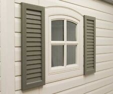 Lifetime Shed or Storage Building Accessories 0111 Window Shutters 2 Pack Brown