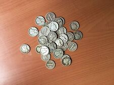 New listing Collectible mixed lot (37) silver Mercury dimes, mixed dates and mixed mint mark