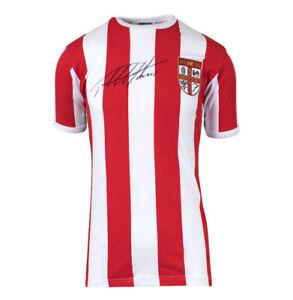 Sir Geoff Hurst Signed Retro Stoke City Shirt Autograph Jersey
