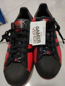 Marvel x PlayStation x Adidas Superstar Shoes Spider-Man Miles Morales sz US 8.5