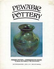 Pewabic Pottery Commemorative Exhibit June 4, 1977 Private Showing