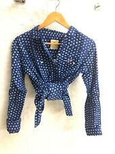 Hollister Long Sleeve Blue Polkadot Buttondown. Brand New With Tags