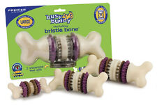 Busy Buddie Bristle Bone **EVERY SIZE** Dog Puppy Toy Treat Rawhide Buddy