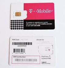 USED T-Mobile Nano 4FF Sim Card PART FOR TEST,BYPASS ,INSERT SIM,*UNLOCKING