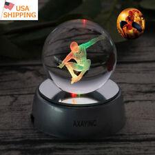 Spiderman Super Hero 3D LED Crystal Laser Night Light Table Desk Lamp Crafts RGB