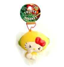 SANRIO HELLO KITTY Fruits Market Lemon Cute NIC Kawaii Squishy Keychain Toy