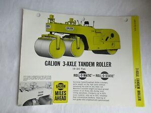Galion 3-axle tandem roller specification sheet brochure
