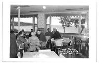1950s RPPC Dining Room, East Bay Hotel, Grand Marais, MN Real Photo Postcard *5A