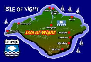 Isle Of Wight Mappa / Bandiera - Souvenir Novità Calamita Frigo - Viste / Regali