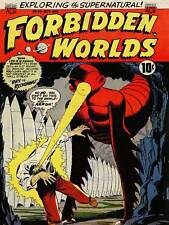 SUPER HERO COVER ACG BOOK FORBIDDEN WORLDS 30 VINTAGE COMIC POSTER PRINT 1388PY