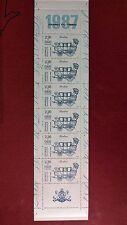 Carnet de timbres Journée du timbre 1987 non plié