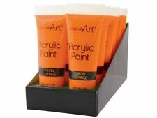 3 x Orange Art Acrylic Paint Tube Set All Colours Crafts Artists Painter 120ml