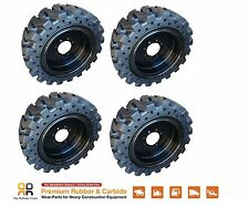 Rio Skid Steer Solid Tires & Rim x4  -No Flat 12x16.5 Bobcat CAT CASE 33x12-20