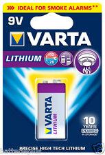 4 x Varta Litio 9V Bloque Batería para Detector de humo ER9V MN1604