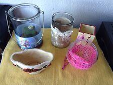 5 Gefäße Glas Keramik zum selbst Gestalten Blumen/ Kerzen, Basteln, Dekoration
