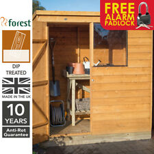 Forest Timber 6x4 Dip Treated Pent Wooden Garden Tool Shed Storage Free Padlock
