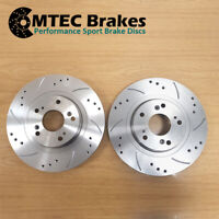 IS250 IS300h FOR LEXUS MKIII SALOON 2013- REAR DRILLED GROOVED BRAKE DISCS 290mm