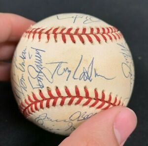 OZZIE SMITH TONY LARUSSO? SIGNED X 27+/- BASEBALL JSA/COA AVAILABLE W/CASE 21121