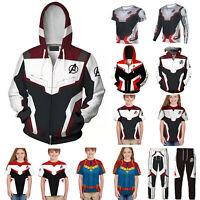 Avengers 4 Endgame 3D Print Hoodie Sweatshirt Jacket Coat T-shirt Pants Men Kids