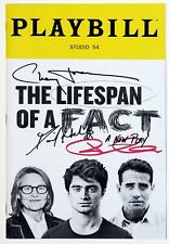 Full Cast Daniel Radcliffe Signed LIFESPAN OF A FACT Opening Night Playbill