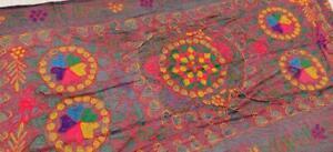 Kuchi Afghani Scarf Wrap Banjara Tribal Cotton Ethnic Embroidery Women Stole