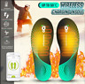Electric Heated Shoes Insoles Warm Foot Heater Wireless Charging Bluetooth Pad