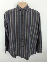 MENS BEN SHERMAN MULTICOLOURED STRIPE BUTTON UP LONG SLEEVED SHIRT SIZE M MEDIUM
