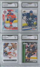 CONNOR MCDAVID AUSTON MATTHEWS JOHNNY GAUDREAU JACK EICHEL 4 CARD ROOKIE GEM 10