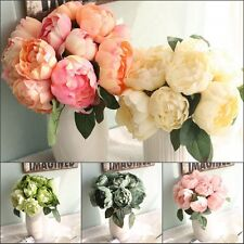 Artificial Rose Peony Silk Flower Bridal Hydrangea Home Wedding Garden Decor