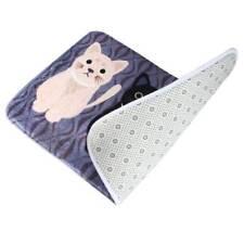Non-slip Cartoon Cat Print Carpet Doormat Rug Mat Cover Pad Gray 40x60cm