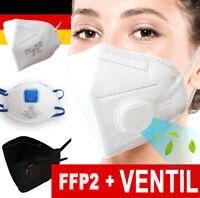 FFP2 Maske ohne& mit VENTIL Mundschutz Filter FFP2 FFP3 Masken ✅CE Zertifiziert