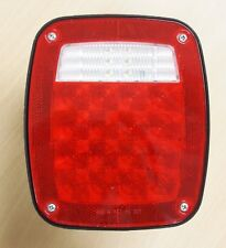 LED Submersible Universal Combination Signal Tail Light Truck Lite Red/clear DOT