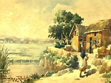 Ambroise RAKOTO & scène de la Vie Malgache & 1935 & Madagascar & Peinture